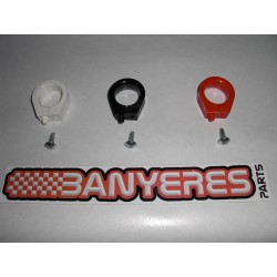 Guide to plastic front brake hose, original Honda, choice colors: red, black and white.