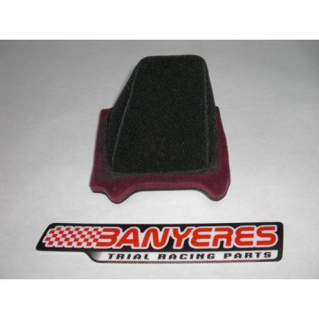 Special air filter for Montesa 4RT more open more air aspiration.