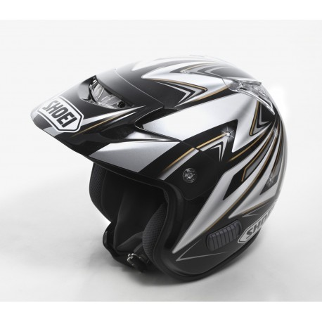 Casco Shoei TR3 Replica Mitani  color negro.