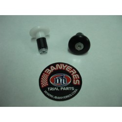 Left handlebar plug black white