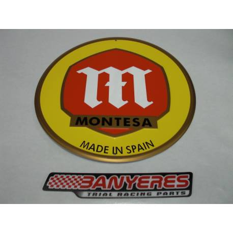 Plaque in official aluminum Montesa logo classic.Model 2.