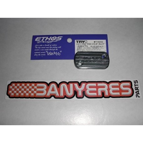 Tapa de aluminio para bomba AJP d´ embrague y freno, Made in Japan Ethos.