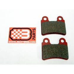 Red front brake pads