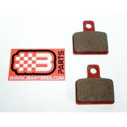 Red rear brake pads
