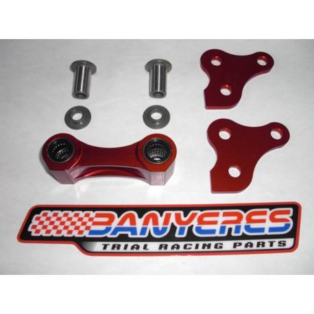 Tie rod rear suspension especially machined aluminum and anodized for Montesa 4RT