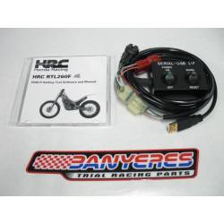 Original Honda cable and CD for programmable ECU HRC 2 maps for Montesa 4rt every year and models.