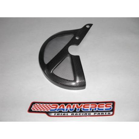Carbon Front Disc Protector with screen,universal for all trial bikes.i