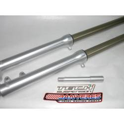 Suspension delantera especial Tech ligh barras de aluminio tratamiento especial poca friccion 39mm eje original Honda.