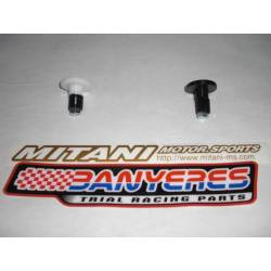 Mitani Teflon handlebar plug for interior handlebar 13´5 mm colors black ho white.