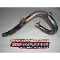 Mitani titanium front exhaust plus diameter 27.3mm for Montesa cota 4RT all models and years 2005-2008.