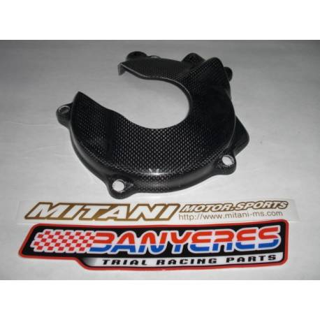 Large carbon clutch cover protector Mitani for Montesa cota 4RT years 2005-2021