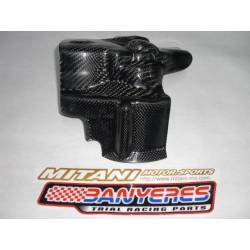 Mitani carbon-kevlar motor-clutch protector for Gas Gas Pro.