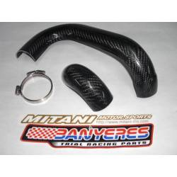 Protector carbon Mitani escapament davanter per a Gas Gas pro 2011-2018.