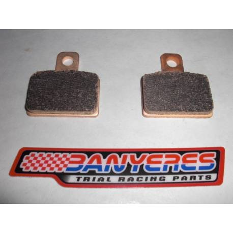 Sintered special brake pads for AJP rear caliper. Very good strong braking on / off.