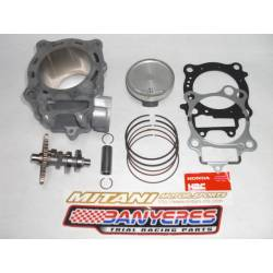 Kit complet HRC 260c.c. cylindre piston 3 anneaux arbre à cames officiel et kit de joints d'origine.Montesa Cota 4RT.