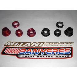 Wheel hubs and rear wheel nut aluminum aircraft for Montesa cota 4RT years 2005-2009 option color red or black.