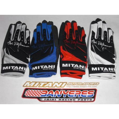 Special gloves Mitani Pilot Replica S / M / L / LL options colors red, blue, white or gray. made in Japan.