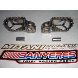 Mitani titanium footrests special for old model of Scorpa Yamaha 2-stroke and 4-stroke engine