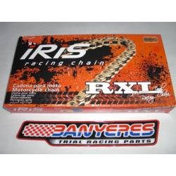 Chain motorcycle trial Iris series gold model RXL 520 special trial measures 102 - 106