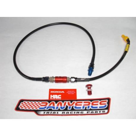 Goodridge carbon hose for quick release clutch without bleeding for Montesa Cota 4RT every year.