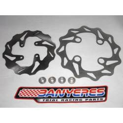 Special universal front brake disc kit front with bushings and rear less lighter weight
