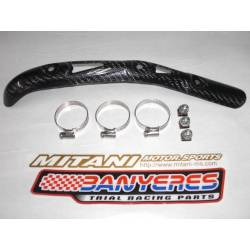 Mitani front exhaust protector for Beta REV 4-stroke with all bolts and clamps.