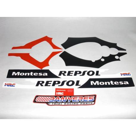 Honda original stickers kit for Montesa Cota 4RT frame - Repsol 2009.