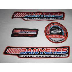 New design Jbanyeres Parts embroidery of 3 patches.