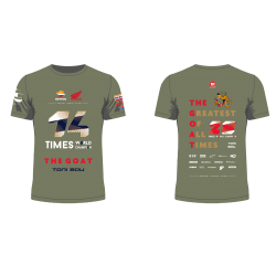T-shirt Champion du Monde Toni Bou Outdoor Trials 2020. Tailles S-M-L-XL-XXL-XXXL.