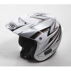 TR3 Replica Helmet Shoei Mitani  Colour White