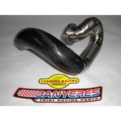 Carbon protector for Montesa Cota 315R front exhaust every year made of racing carbon.