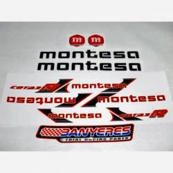 Chassis sticker kit - swingarm and front suspension for Montesa Cota 315R year 2001.