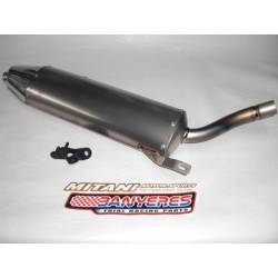 Mitani titanium silencer for Montesa cota 4RT 250cc-260cc-280cc without protector and filter housing support.