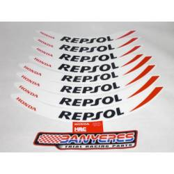 Original stickers kit for Honda Repsol Montesa cota 4RT rims year 2020.