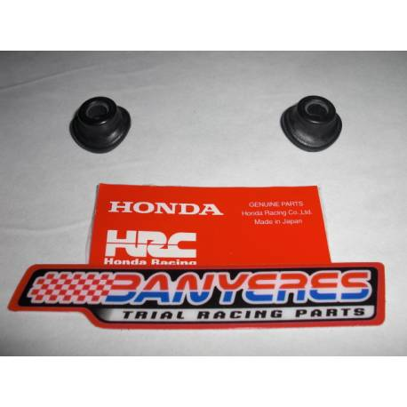 2 Holds the original black Honda - HRC rubber valve for front wheel.