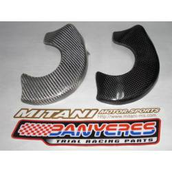 Protector Mitani carbon clutch cover for Montesa cota 4RT option texaliun white Carbon black.