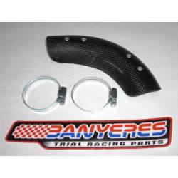 Carbon front exhaust protector for Montesa 315R years 1996 - 2004.