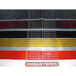 Adhesives DID tires in various colors black, blue, gold ho red Mitani model