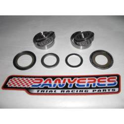 Steering bearings and dust guards and washers not original for Honda TLR 200-250.
