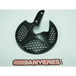 Front disc guard black colored plastic