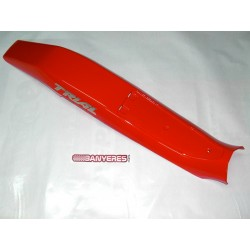Original red Fender Montesa 311 with adhesives.