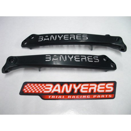 Radiator rib milled lightened chassis black Color jbanyeres Montesa 4RT
