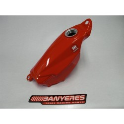 Original gasoline tank Montesa 4RT 2016 for new fuel pump. Red color.