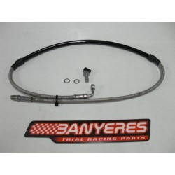 Complete front brake hose to brake pump AJP and Bracket for brake calipers and new Bracteck monoblock models.