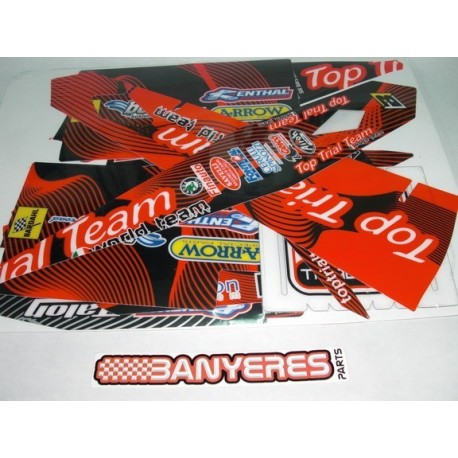 Adhesive Kit for Top Trial Team Beta EVO 2T - 4T 2011 model