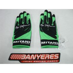 Mitani gloves special trial color green and black sizes S / M / L / XL / XXL