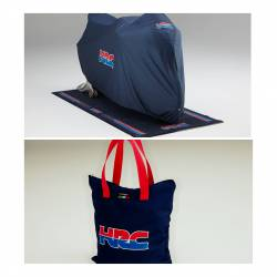 Official HRC bike case with clothes and bag.