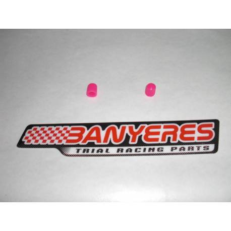 Pink rubber air valve cap
